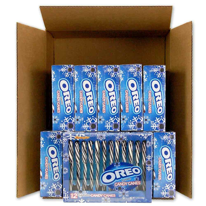 Giant Box Containing 12 Boxes of Oreo Candy Canes