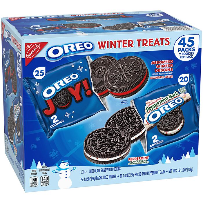 Giant Box Of Winter And Peppermint Bark Oreos
