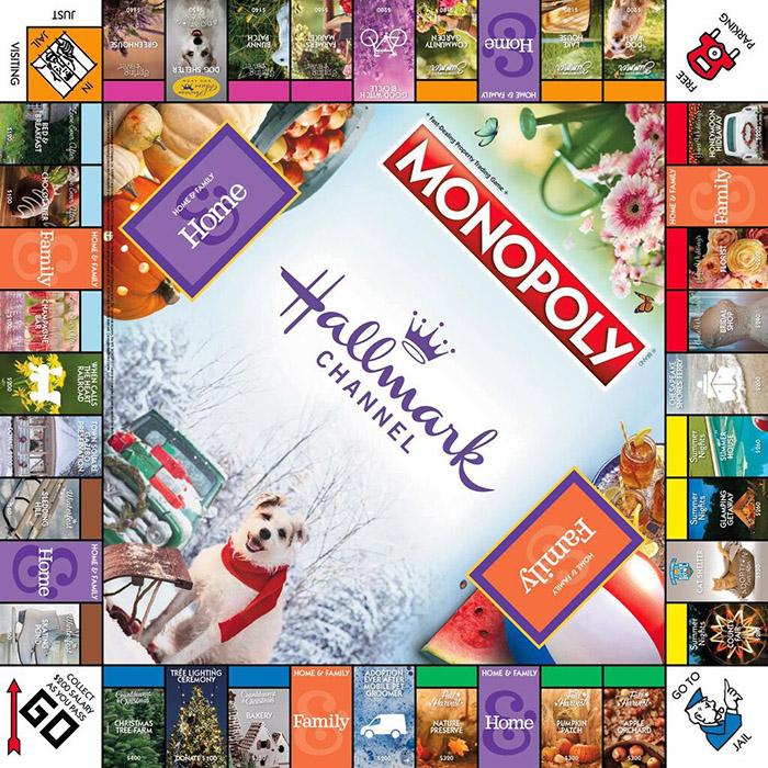 Hallmark Channel Monopoly Board