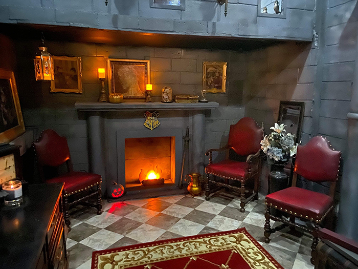 Harry Potter-inspired Bedroom Fireplace