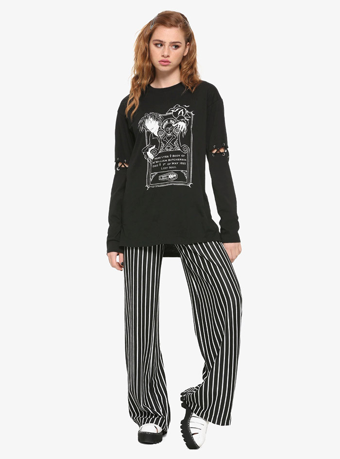 Hocus Pocus Clothing Collection Billy Glow-In-The-Dark Long-Sleeve Girls Shirt full