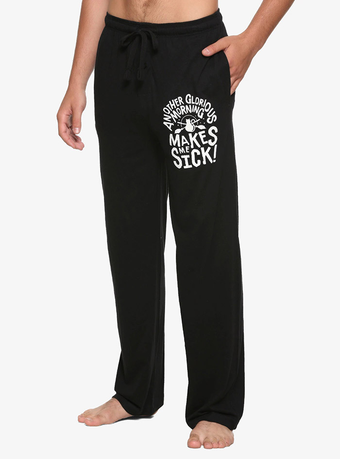 Hocus Pocus Clothing Collection Black Glorious Morning Pajama Pants