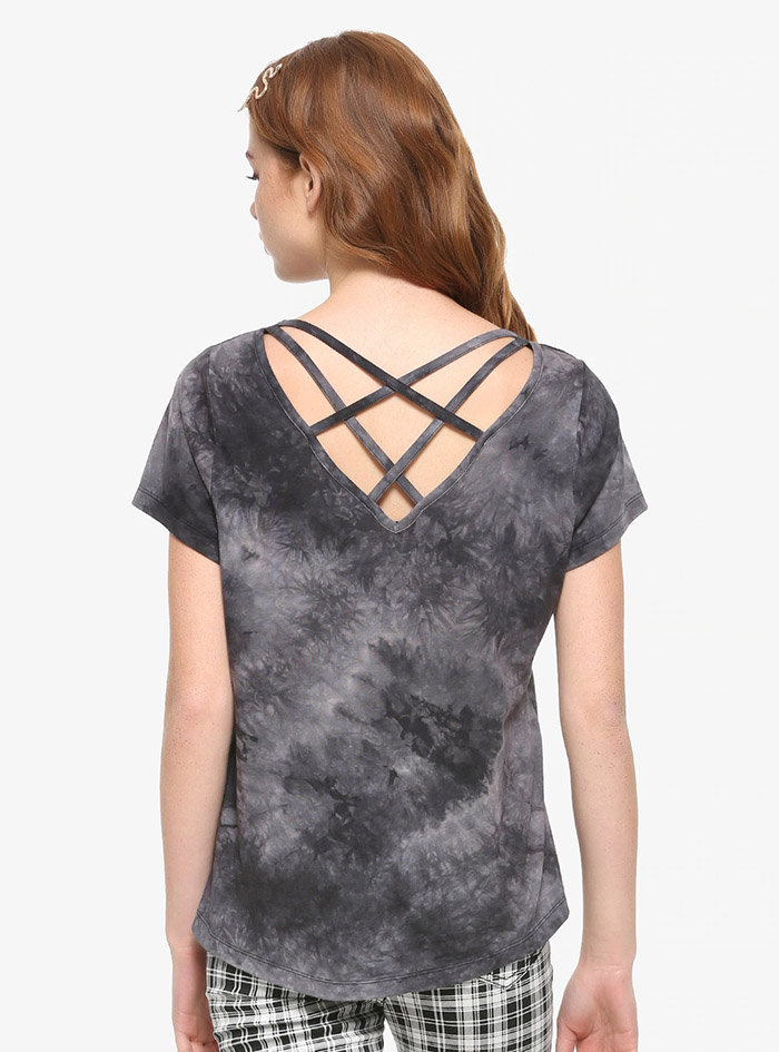 Hocus Pocus Clothing Collection Sanderson Sisters Acid Wash Girls Strappy Top Back