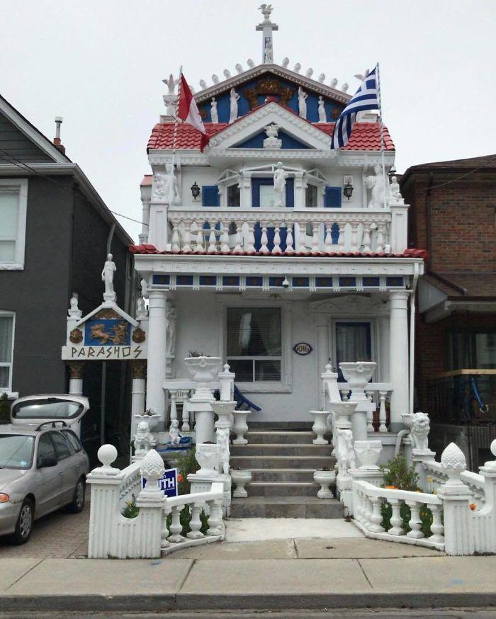 House That Looks Like a Greek Castle