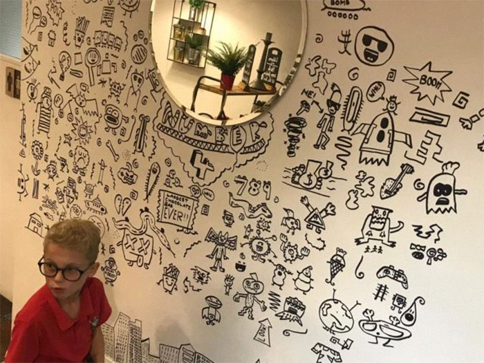 Joe Whale and His Wall Doodles