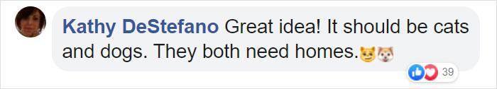 Kathy DeStefano Facebook Comment
