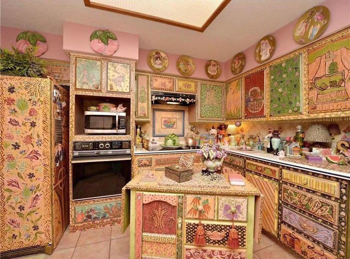 Kitchen with Decorative Paintings