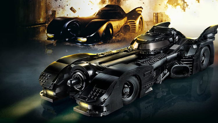LEGO Batmobile compared with real model