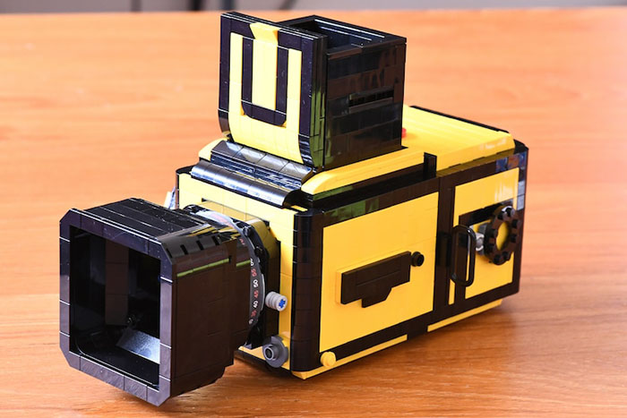 LEGO Camera with Focus Hood Up Back