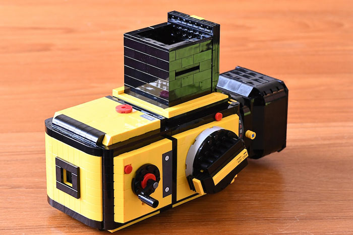 LEGO Camera with Focus Hood Up Right Perspective