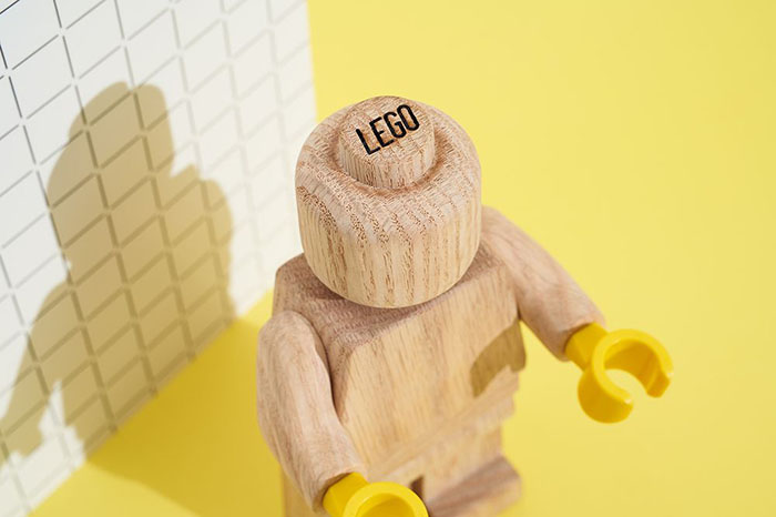 LEGO Wooden Figure Branding on Head