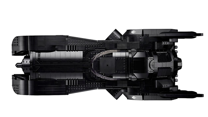 LEGO batmobile birds eye view