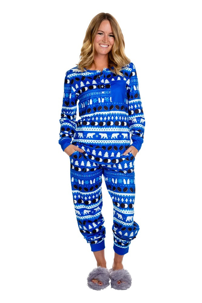 Lady in Oreo Christmas Pajama