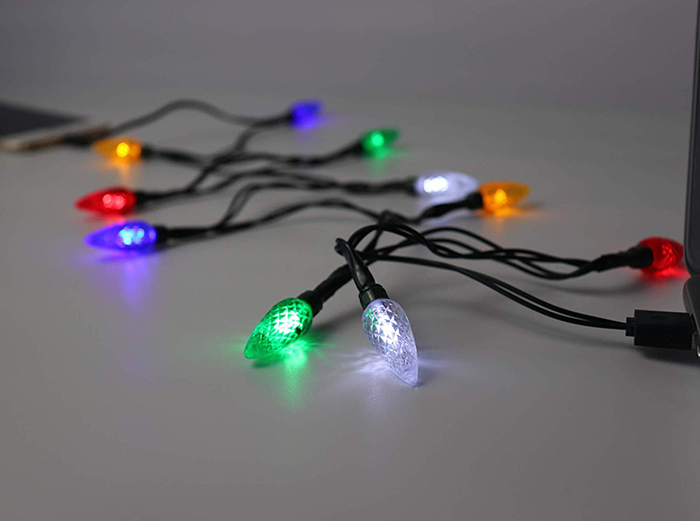 Lighted Christmas Lights Phone Charger