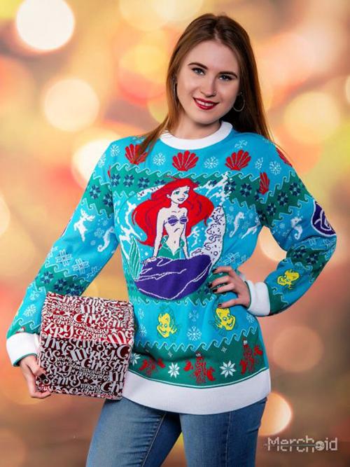 Little Mermaid Ugly Disney Christmas Sweater for Women