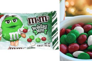 M and Ms Holiday Mint Flavor