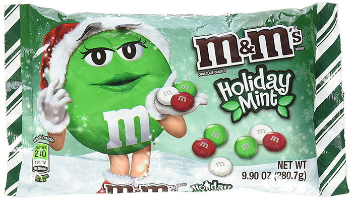 M&M's Holiday Mint Flavor Alternate Packaging