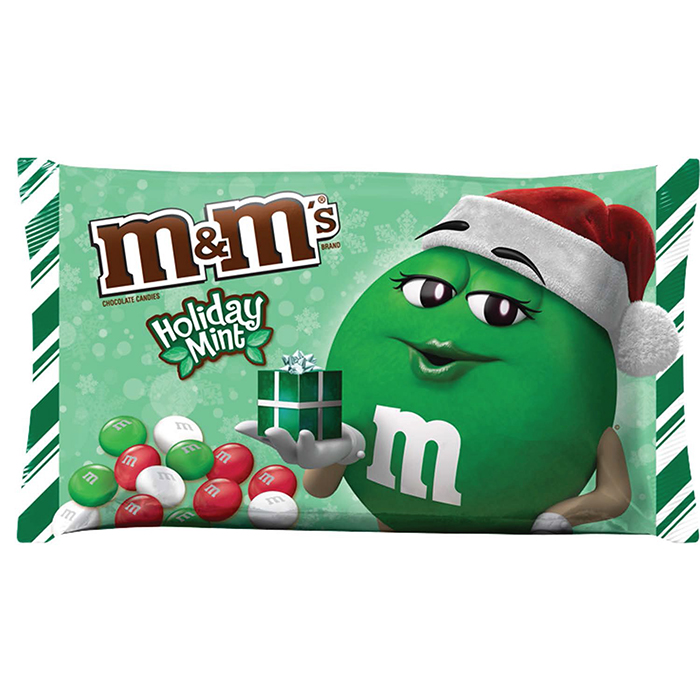 M&M's Holiday Mint Flavor Packaging