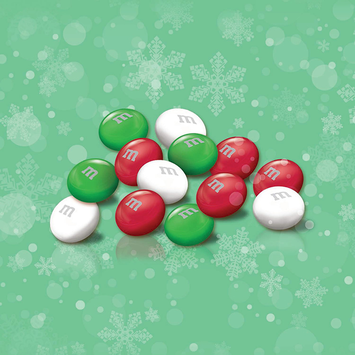 M&M's Holiday Mint Flavor Pieces Graphic Representation
