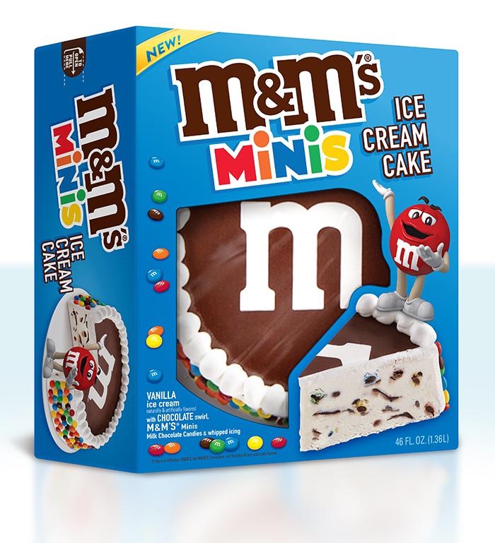 M&M's ice cream cake package