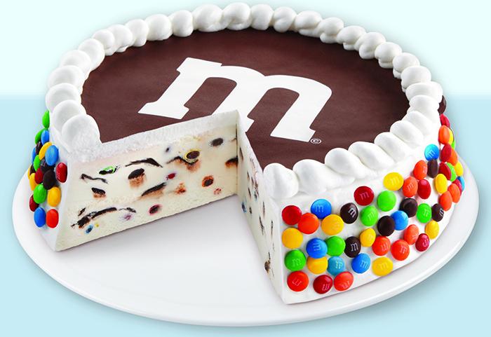 M&M's ice cream cake