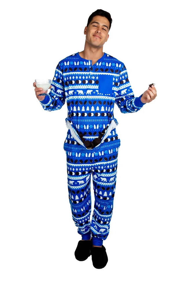 Man in Oreo Christmas Pajama