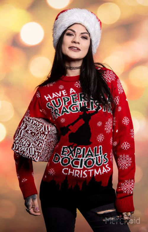 Mary Poppins Ugly Disney Christmas Sweater for Women
