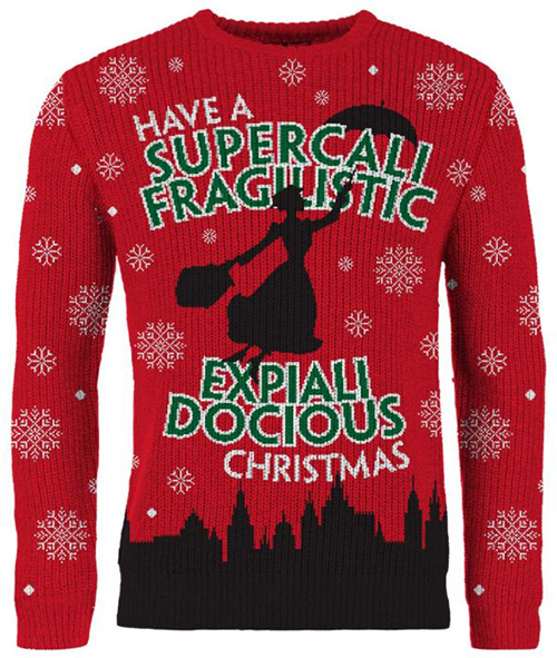 Mary Poppins Ugly Disney Christmas Sweater