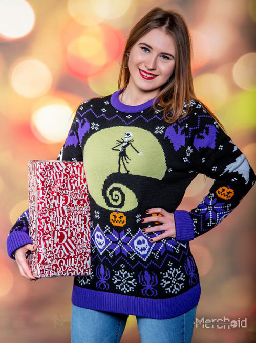 Nightmare Before Christmas Ugly Disney Christmas Sweater for Women