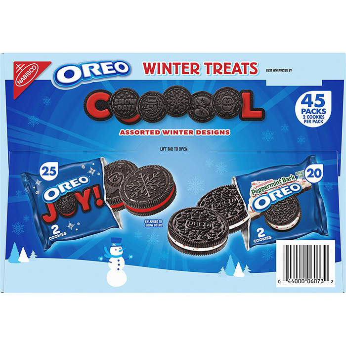 Oreo Winter Treats Packaging Back