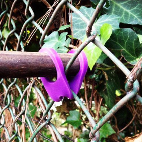 Pardon My Purple Connecting a Stick to a Fence
