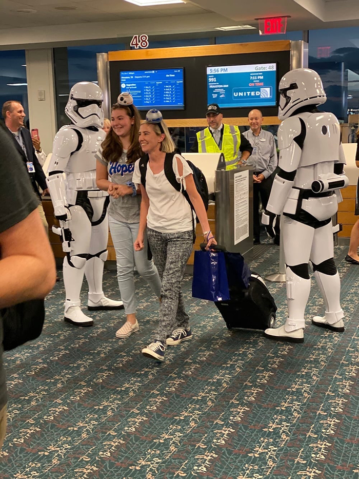 Passengers Welcomed by Stormtroopers at the Airport Gate