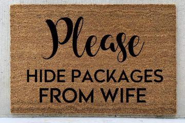 Please Hide Packages from Wife Funny Doormat