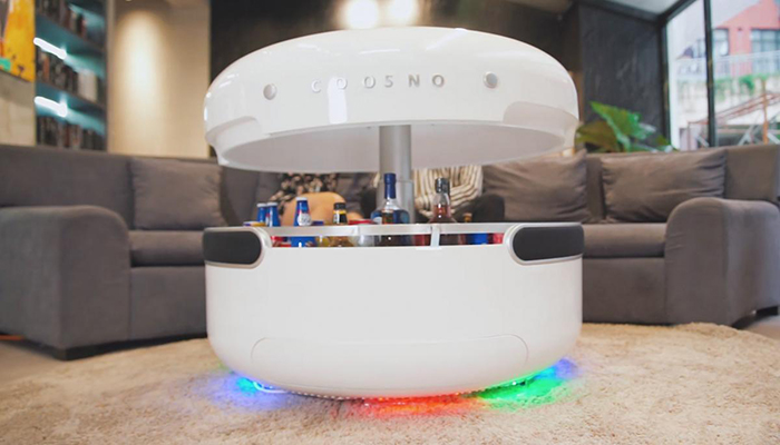 the 'coosno' is a smart coffee table with a builtin