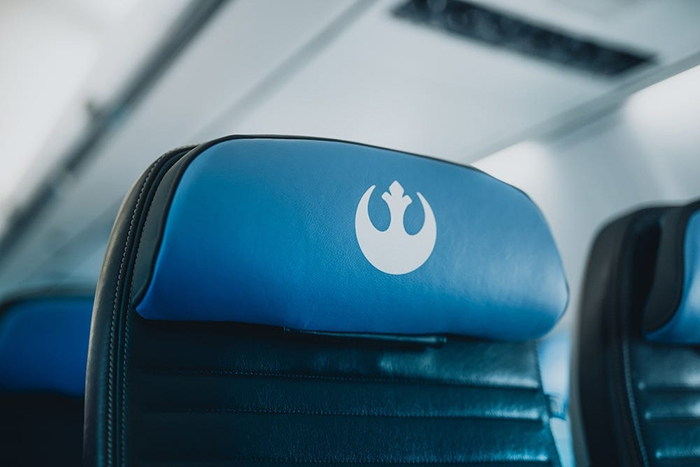 Star Wars Resistance Logo on Headrest