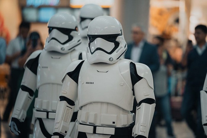 Stormtroopers at the Airport Terminal