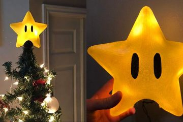 Super Mario star tree topper