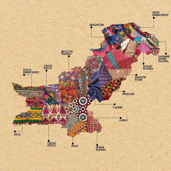 Textile Map of Pakistan