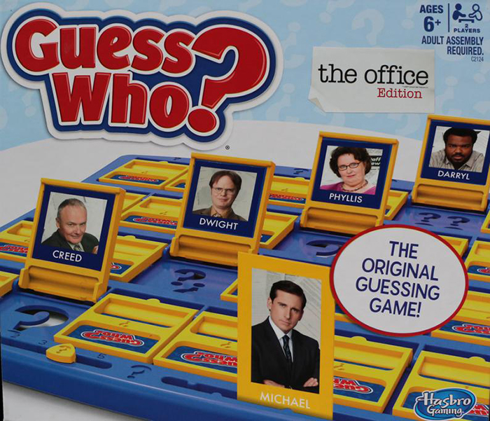 The Office Guess Who Board Game Closeup