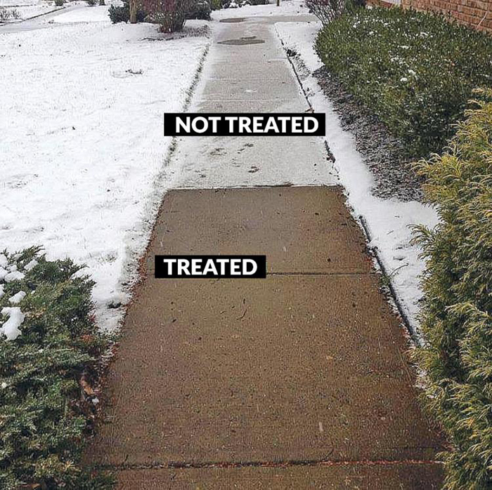 Treated Versus Not Treated Sidewalk