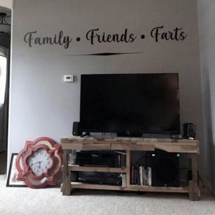 Wall with Family, Friends, Farts Decals