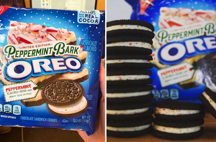 Winter And Peppermint Bark Oreos