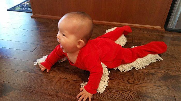 baby mop-onesie customer photo