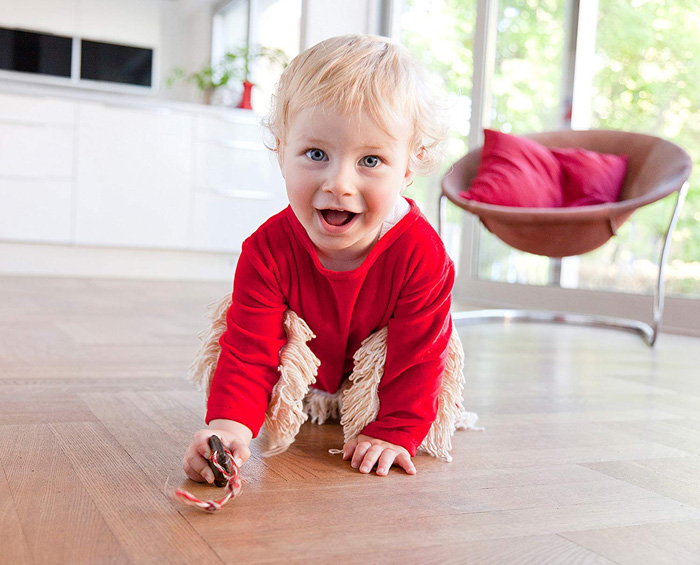 baby mop-onesie for crawling toddlers