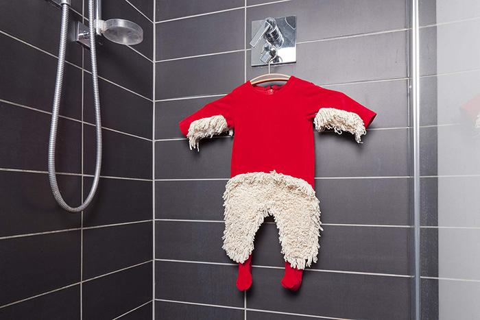 baby mop-onesie hang dry inside