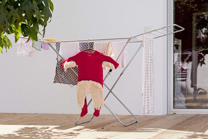 baby mop-onesie hang dry