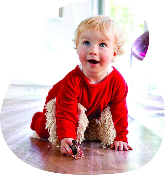baby mop-onesie