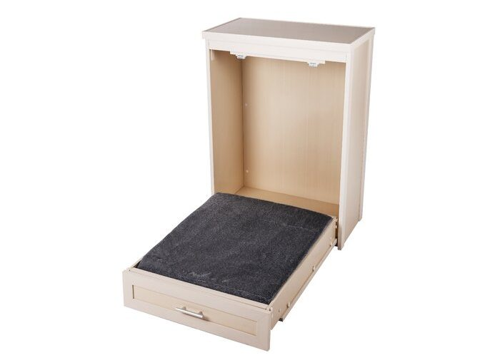 bed-and-cabinet for pets white foam cover