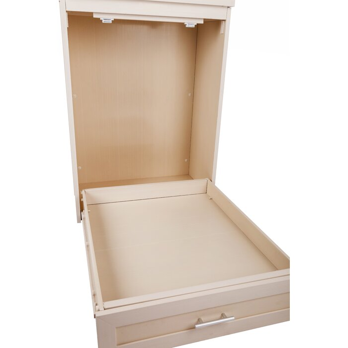bed-and-cabinet for pets white frame