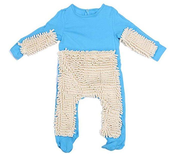 blue mop romper for babies